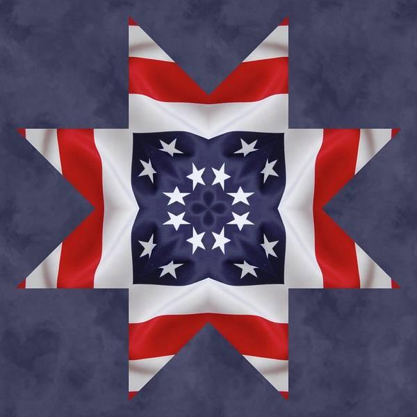 Digital Art - Patriotic Star 2 by Jeffrey Kolker