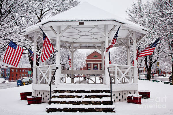Wall Art - Photograph - Patriotic Bandstand by Susan Cole Kelly