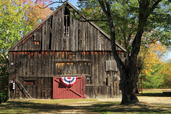 Photograph - Patriotic Barn by Nancy De Flon