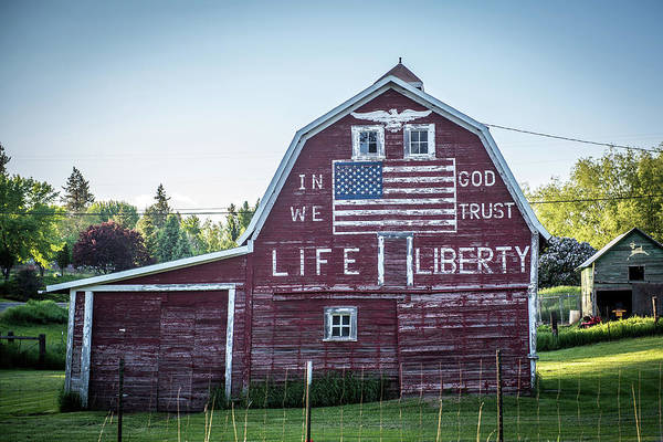 Wall Art - Photograph - Patriotic Barn by Paul Freidlund