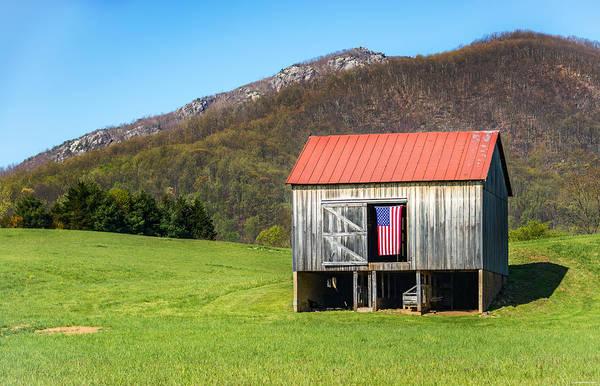 Photograph - Patriotic Barn by Ryan Wyckoff