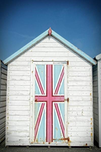 Photograph - Patriotic Beach Hut by David Birchall