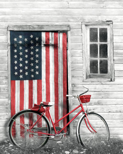 Wall Art - Photograph - Patriotic Bicycle by Lori Deiter