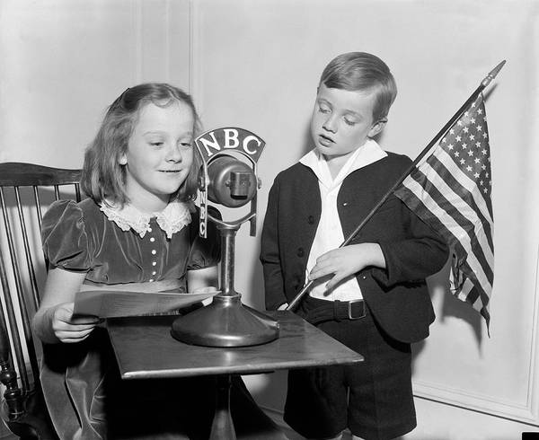 Nbc Photograph - Patriotic Broadcast by Harris & Ewing