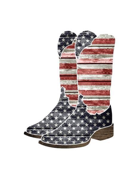Wooden Shoe Digital Art - Patriotic Cowboy Boots by Lisa Crisafi
