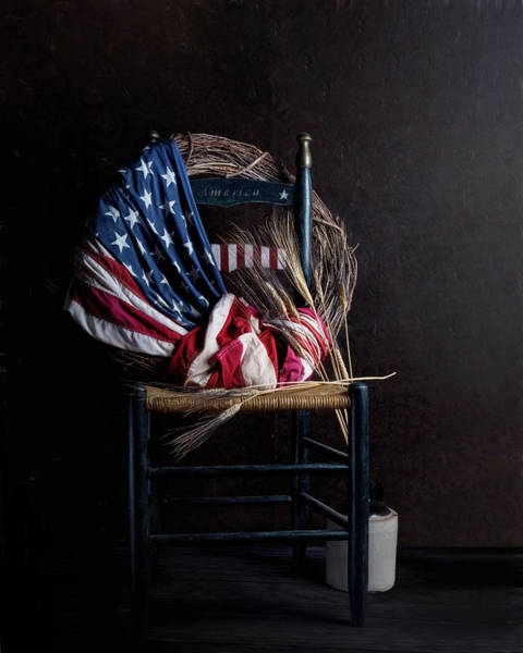 Seat Photograph - Patriotic Decor by Tom Mc Nemar