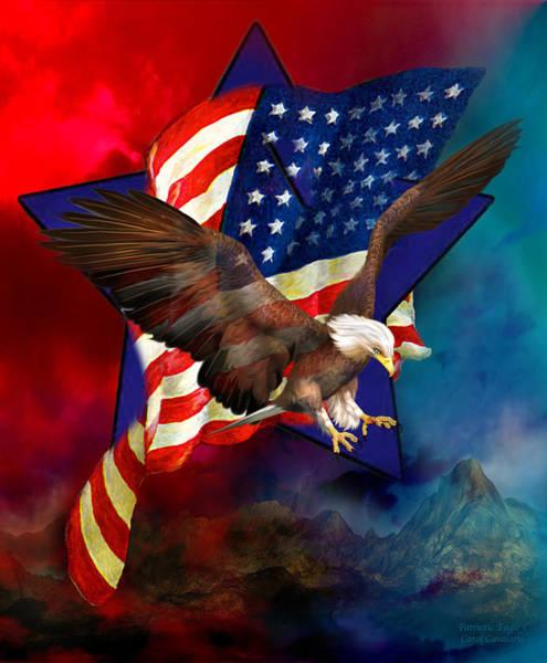 Mixed Media - Patriotic Eagle 1 by Carol Cavalaris