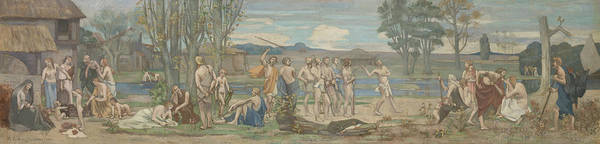 Painting - Patriotic Games by Pierre Puvis de Chavannes