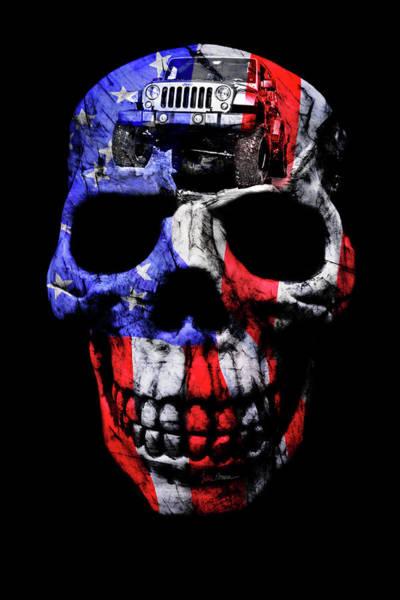 Wall Art - Photograph - Patriotic Jeeper Skull Jku Wrangler by Luke Moore