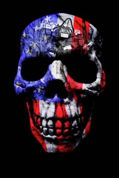 Wall Art - Photograph - Patriotic Jeeper Skull Tj Wrangler by Luke Moore