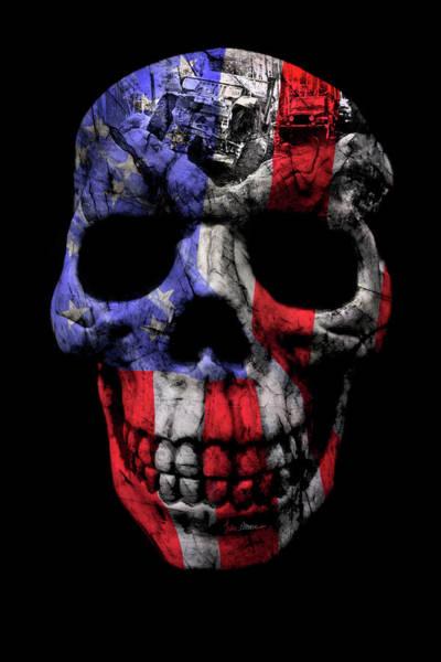 Wall Art - Photograph - Patriotic Jeeper Skull Yj Wrangler by Luke Moore