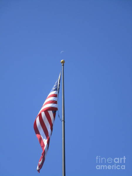 Photograph - Patriotic Moon At Skinner Butte by Marie Neder