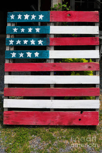 Photograph - Patriotic Pallets by Thomas Marchessault
