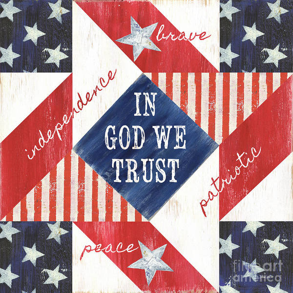 Wall Art - Painting - Patriotic Quilt 2 by Debbie DeWitt