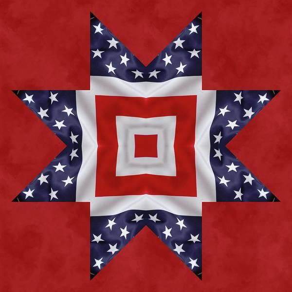Digital Art - Patriotic Star 1 by Jeffrey Kolker