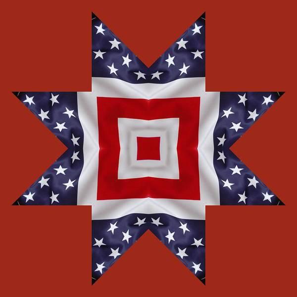 Digital Art - Patriotic Star 1 - Transparent Background by Jeffrey Kolker