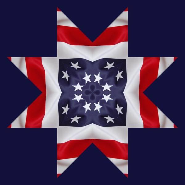 Digital Art - Patriotic Star 2 - Transparent Background by Jeffrey Kolker
