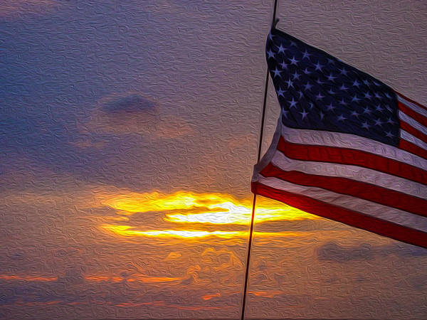 Digital Art - Patriotic Sunset by Keith Smith