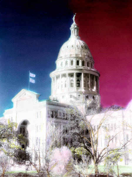 Photograph - Patriotic Texas Capitol by Marilyn Hunt