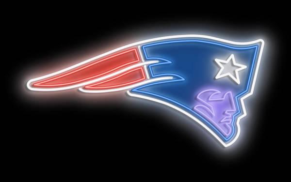 New Trend Digital Art - Patriots Neon Sign by Ricky Barnard