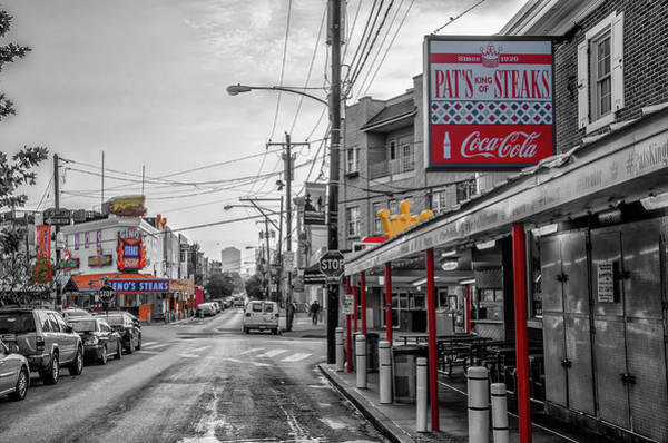 Wall Art - Photograph - Pats And Genos - Selective Color by Bill Cannon