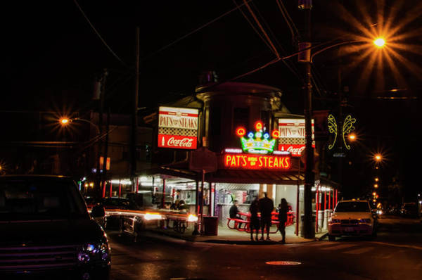 Photograph - Pats King Of Steaks - South Philly by Bill Cannon