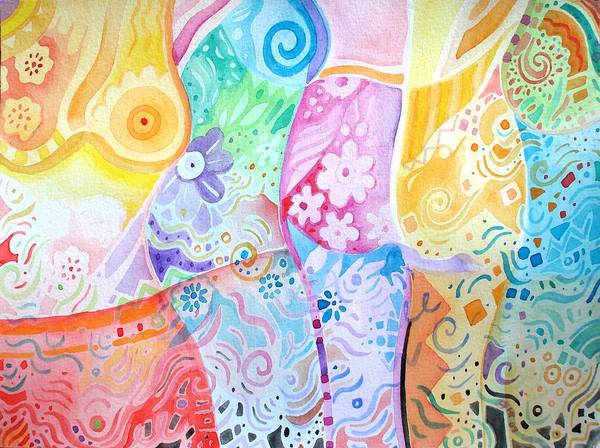 Painting - Pattern And Form I by Helena Tiainen