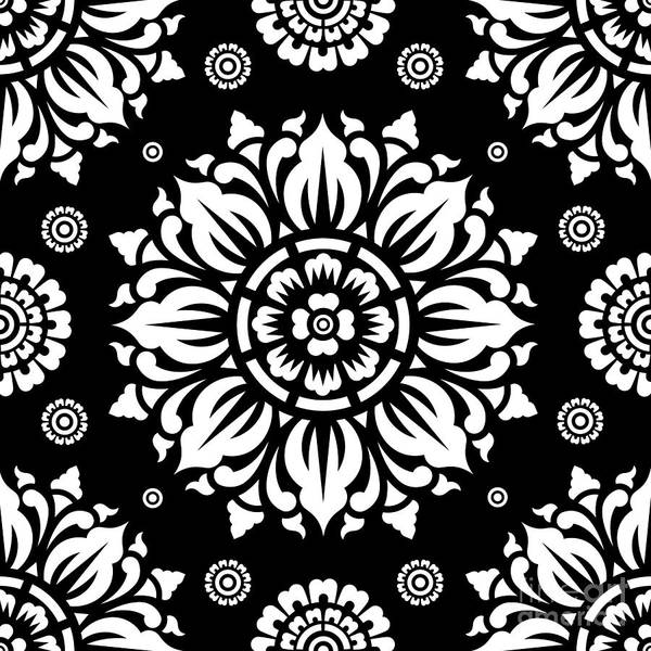 Mandala Wall Art - Digital Art - Pattern Art 01-1 by Bobbi Freelance