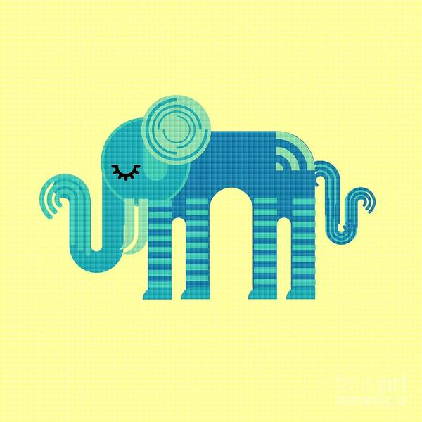 Digital Art - Pattern Elephant by Vix Edwards