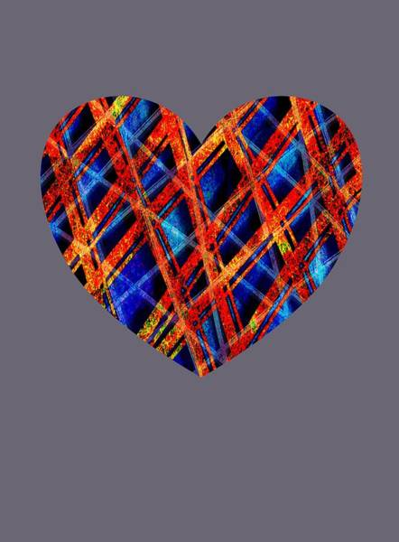 Wall Art - Mixed Media - Pattern Heart by Lisa Stanley