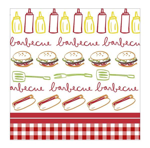 Father Photograph - Pattern With Barbecue Lettering, Hot by Gillham Studios