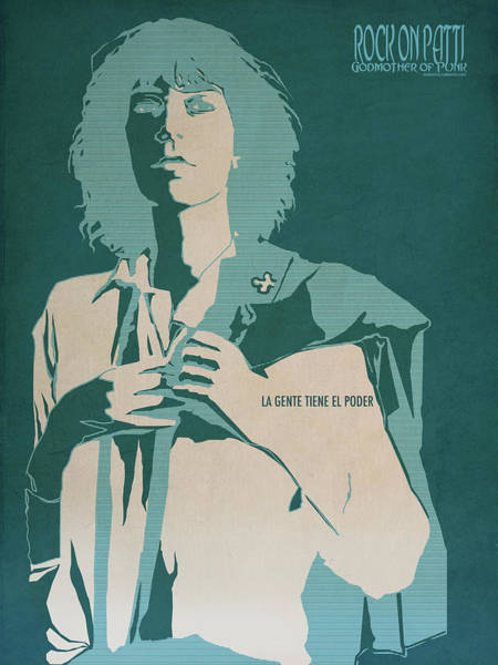 Punk Digital Art - Patti Smith by Nelson Garcia