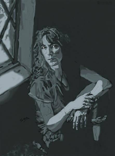 Smith Rock Painting - Patti Smith by Suzanne Gee
