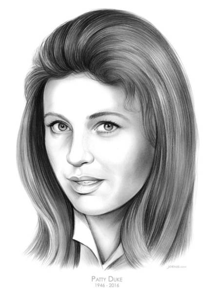 Actress Drawing - Patty Duke by Greg Joens