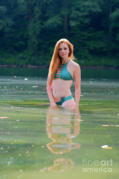Photograph - Patty The Red Head In The Water by Dan Friend