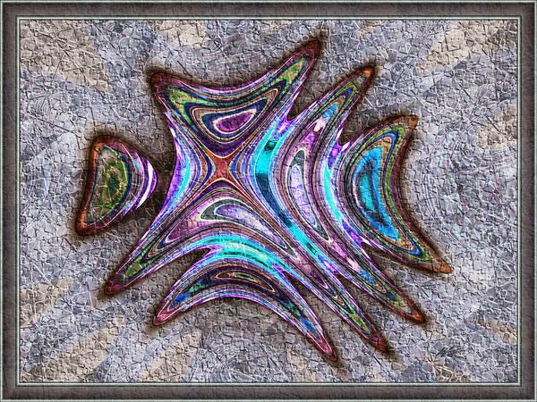 Paua Medallion Art Print