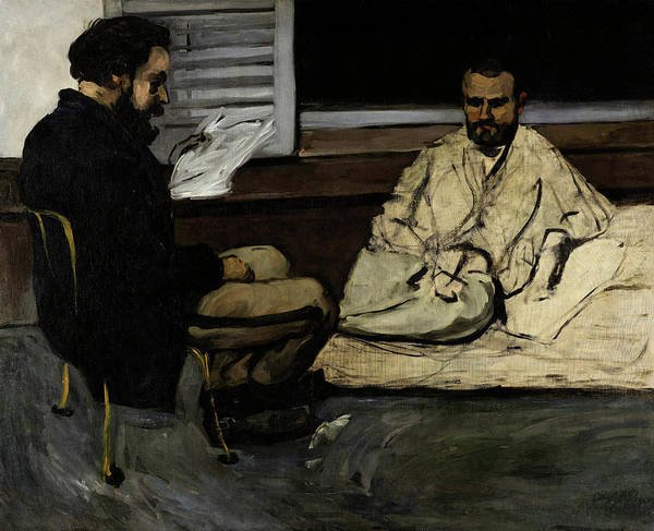 Nobel Painting - Paul Alexis Reading A Manuscript To Zola by Paul Cezanne