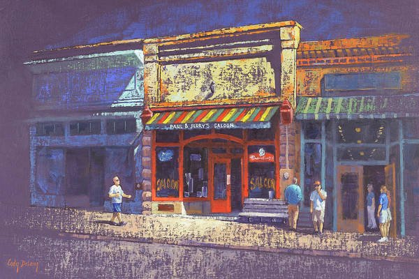 Urban Scene Painting - Paul And Jerrys Saloon by Cody DeLong