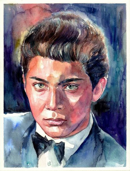 Wall Art - Painting - Paul Anka Young Portrait by Suzann Sines