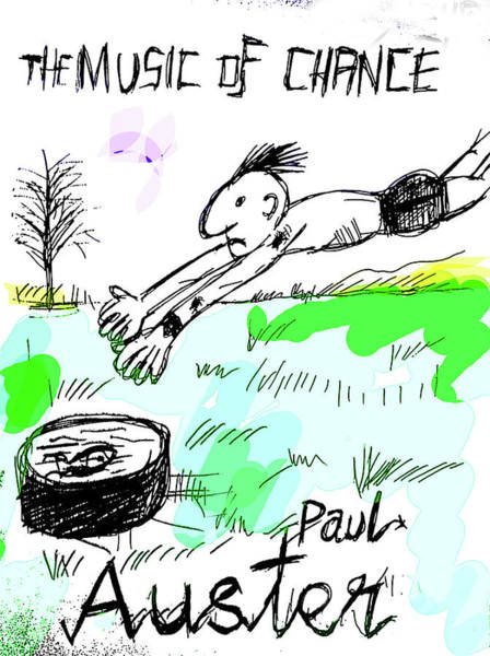 Drawing - Paul Auster Music Of Chance  by Paul Sutcliffe