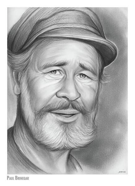 Characters Wall Art - Drawing - Paul Brinegar by Greg Joens