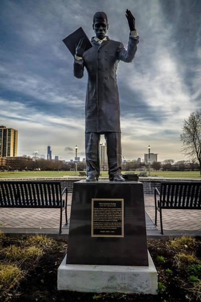 Photograph - Paul Dunbar Statue In Bronzeville by Sven Brogren