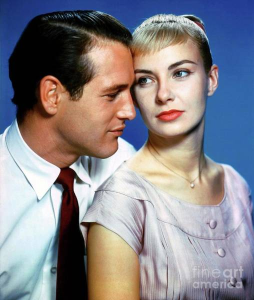 Woodward Photograph - Paul Newman And Joanne Woodward by Esoterica Art Agency