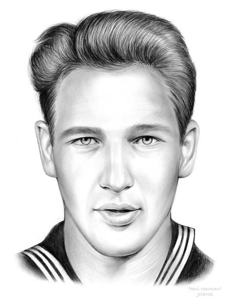 Actor Drawing - Paul Newman by Greg Joens
