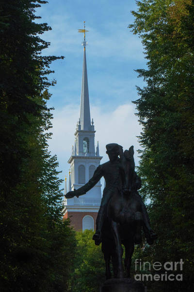 Photograph - Paul Revere Old North Church Boston by Wayne Moran