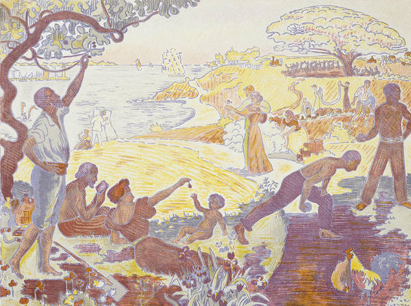 Relief - Paul Signac - In The Time Of Harmony - The Joy Of Life - Sunday By The Sea by Paul Signac