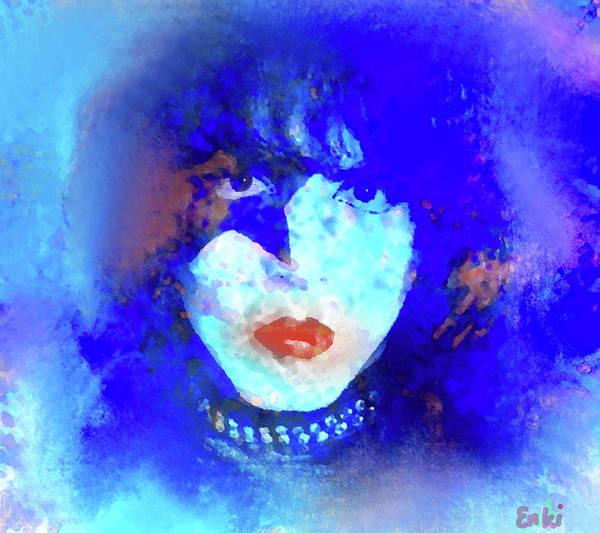 Blue Oyster Cult Wall Art - Painting - Paul Stanley Of Kiss - Portrait by Enki Art