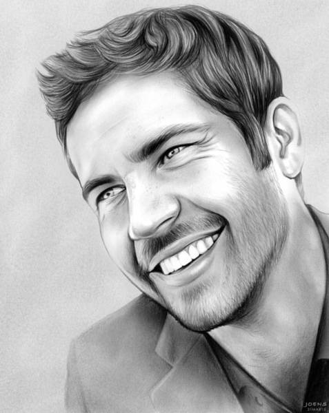Wall Art - Drawing - Paul Walker by Greg Joens