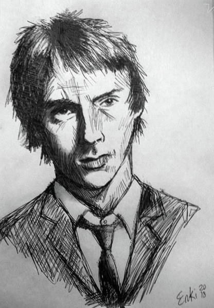 Sex Pistols Drawing - Paul Weller - The Jam Drawing  by Enki Art