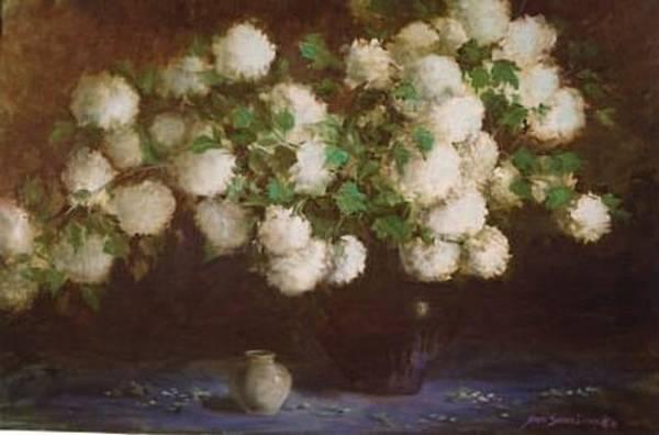 Painting - Paula's Snowballs by Naomi Dixon